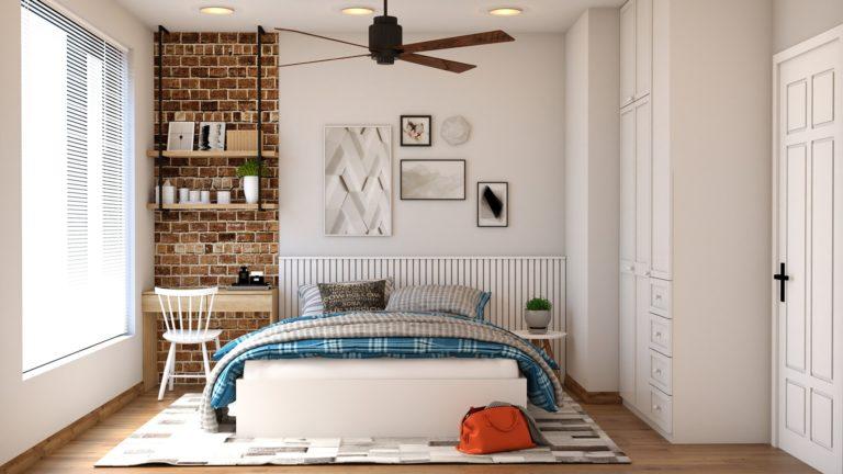 Cama y colchon en una habitacion
