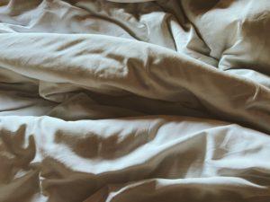 sabanas en la cama