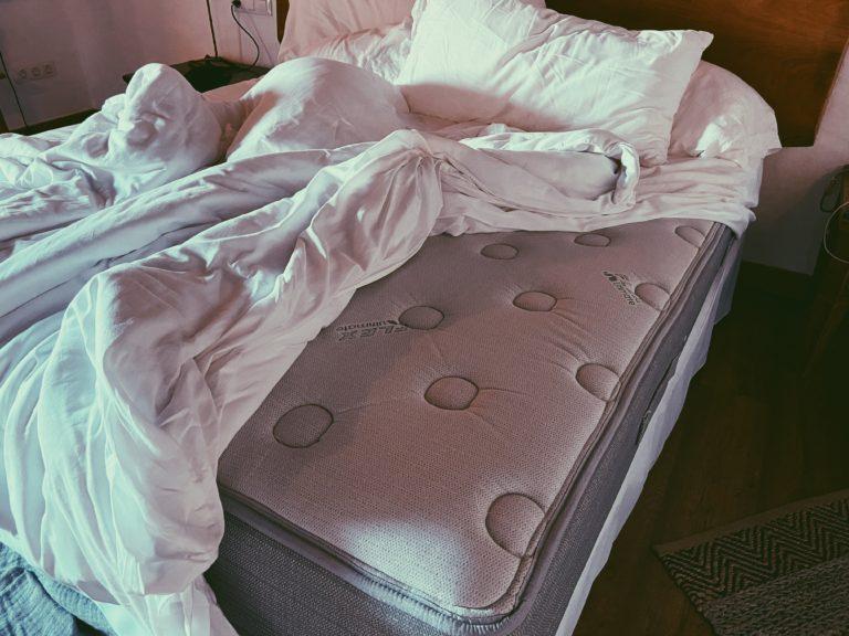 cama con colchon de flex